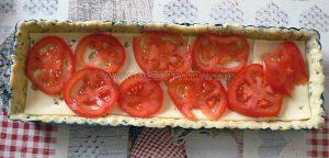 Tarte tomate, estragon et fromage etape 3