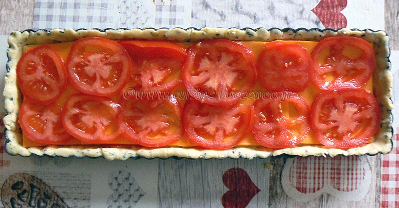 Tarte tomate, estragon et fromage etape 4
