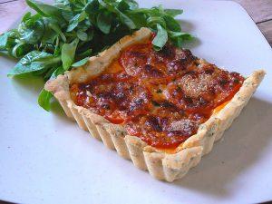 Tarte tomate, estragon et fromage fin 2