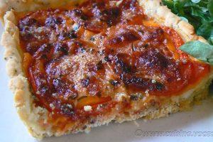 Tarte tomate, estragon et fromage slider