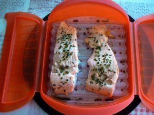 Rillettes de saumon frais et ses baies roses etape2