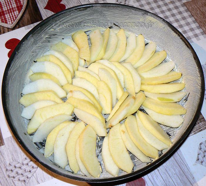 Gâteau aux pommes, myrtille et vanille etape3