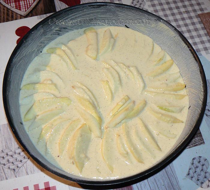 Gâteau aux pommes, myrtille et vanille etape4
