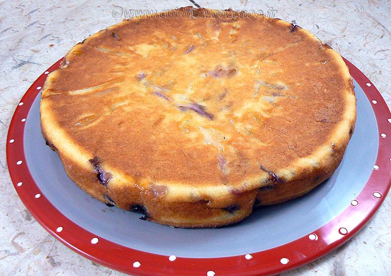 Gâteau aux pommes, myrtille et vanille fin3