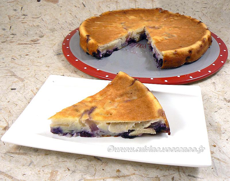 Gâteau aux pommes, myrtille et vanille fin4