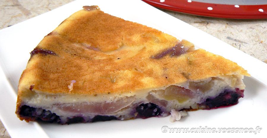 Gâteau aux pommes, myrtille et vanille slider