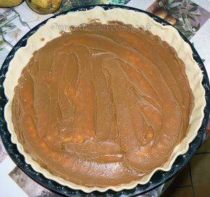 tarte aux poires, speculoos et pralin etape1