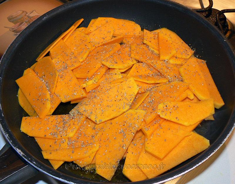 Pâtes à la Butternut caramélisée etape1