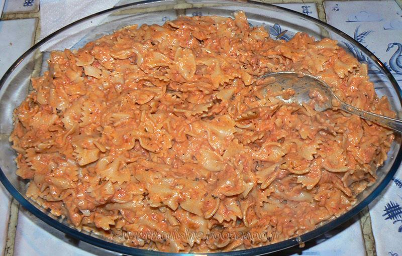 Pâtes à la Butternut caramélisée etape5