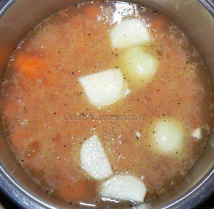 Velouté de carottes au St Môret etape1