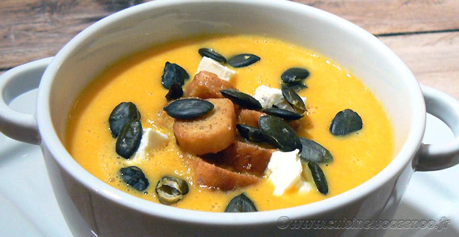 Velouté de carottes au St Môret slider
