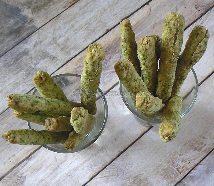 Gressins cresson, comté et graines fin