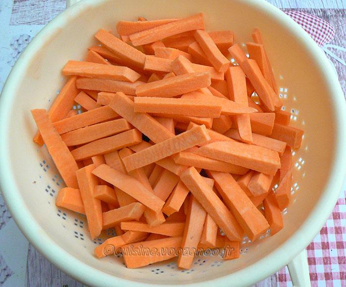 Poisson en croûte de noix de coco et frites de patate douce etape1