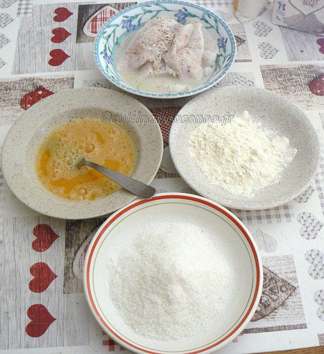 Poisson en croûte de noix de coco et frites de patate douce etape3