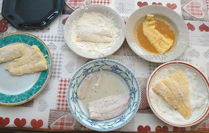 Poisson en croûte de noix de coco et frites de patate douce etape6