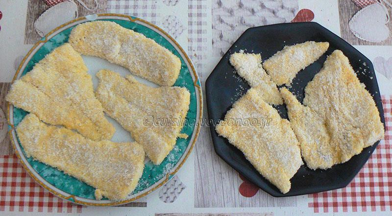 Poisson en croûte de noix de coco et frites de patate douce etape7