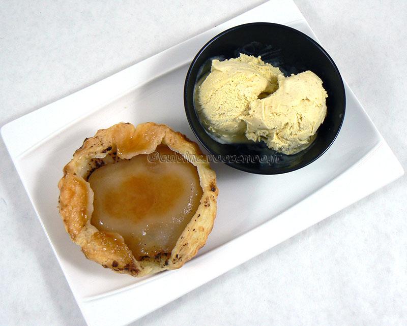 Tartelette tatin à la poire fin