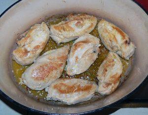 Blancs de poulet à la mélasse de grenade, noix et riz persan etape3