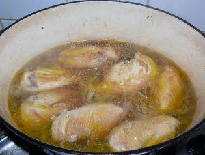 Blancs de poulet à la mélasse de grenade, noix et riz persan etape5