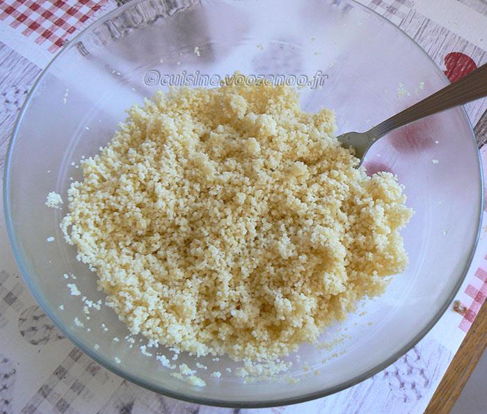 Chakery – Couscous lacté à l'ananas etape1