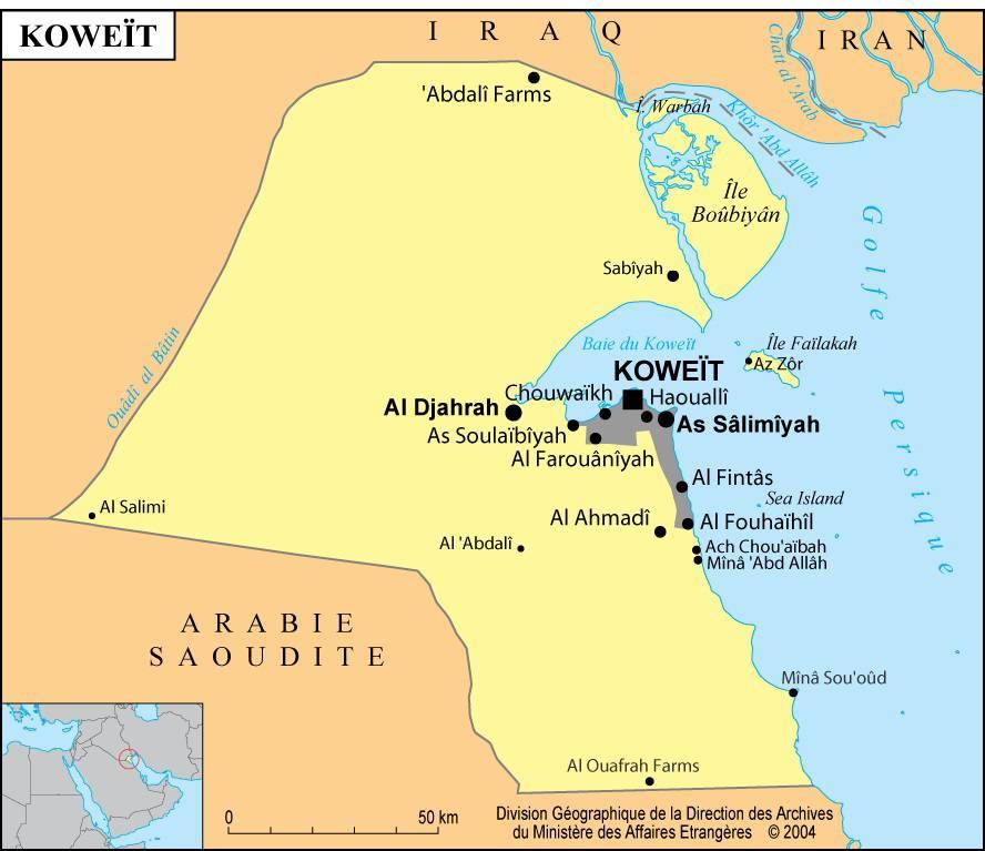 carte-villes-koweit