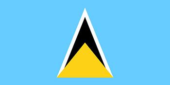 drapeau sainte lucie