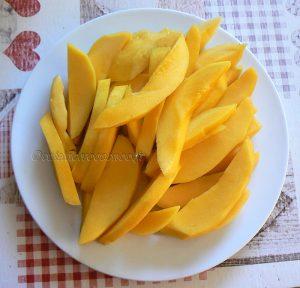 Mangue et riz collant sauce noix de coco etape3