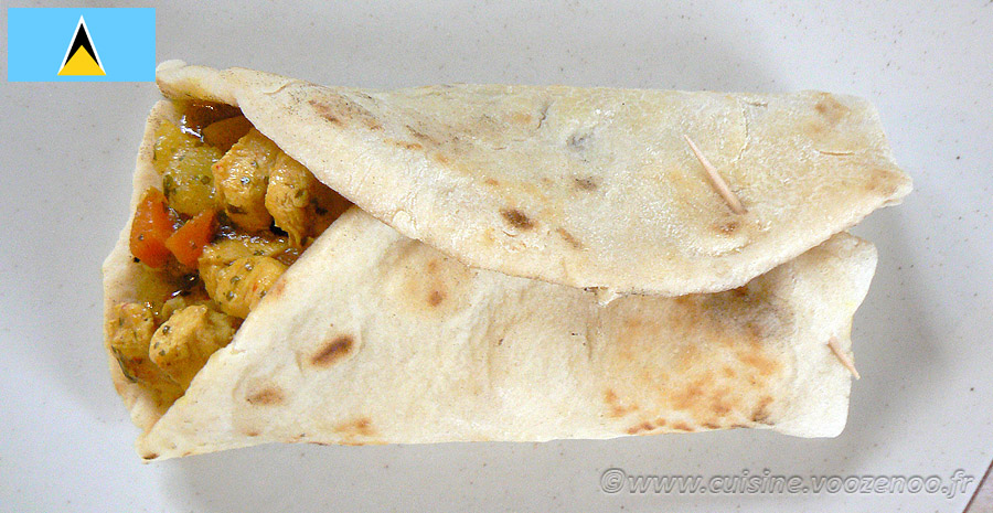 Chicken roti slider