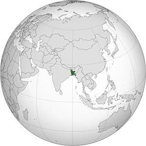 bangladesh globe