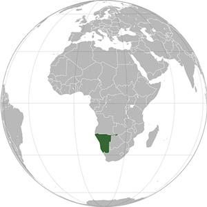 globe namibie