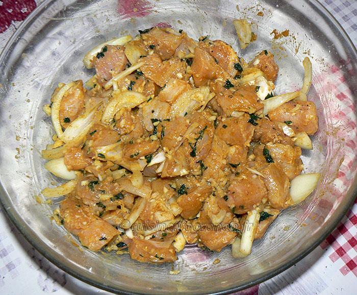 Kebab reshmi de poulet et chutney de menthe etape2
