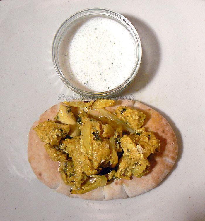 Kebab reshmi de poulet et chutney de menthe fin2