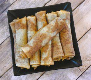 Crêpes bulgares au yaourt presentation