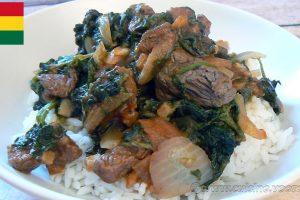 Shoko, sauce d'épinards à la viande - Ghana