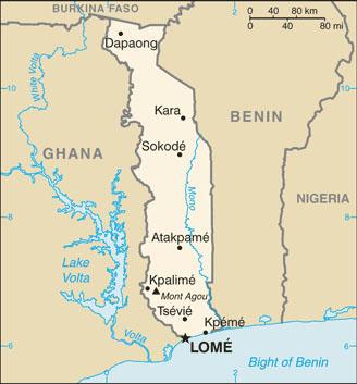 Carte Togo