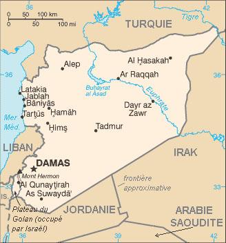Carte syrie