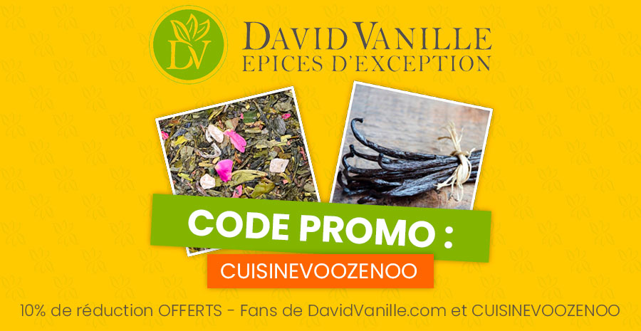 Code promo 2 David Vanille