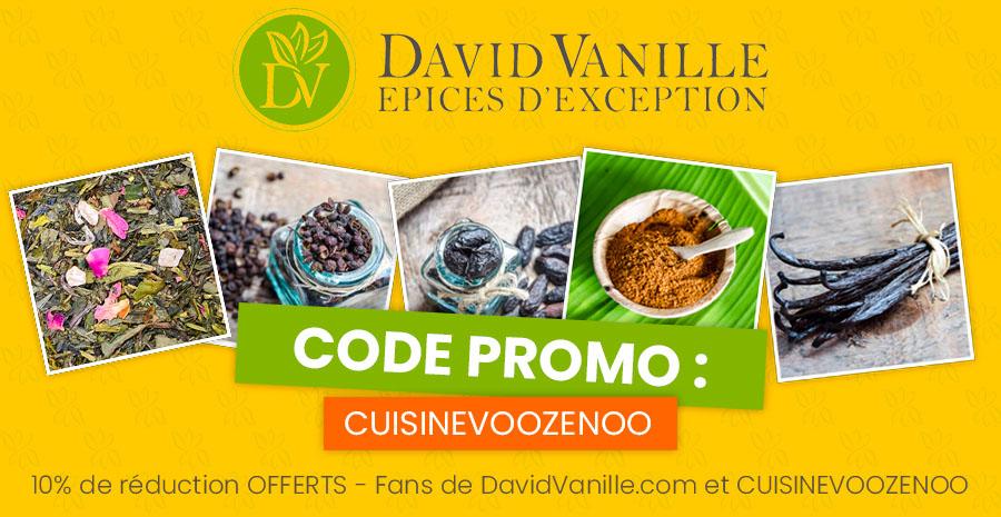 Code promo David Vanille