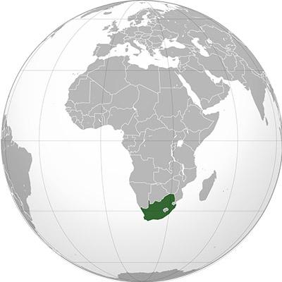 Globe Afrique du sud