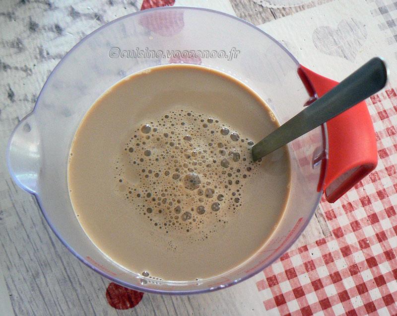 Hopjesvla, la crème dessert hollandaise etape1