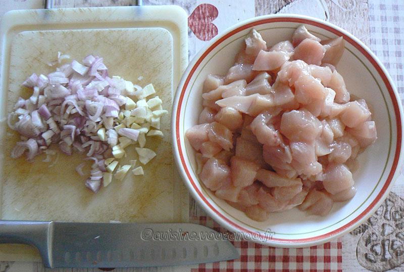 Poulet caramélisé aux graines de sésame etape1