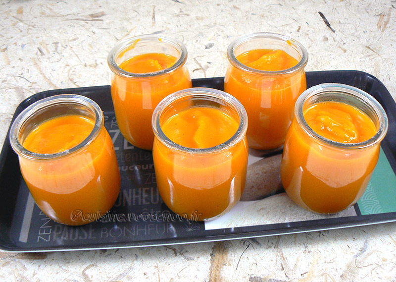 Soupe glacée de carotte primeur presentation