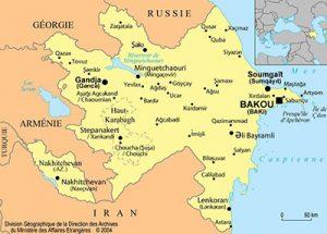 carte azerbaidjan