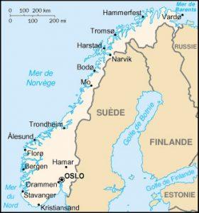carte norvege