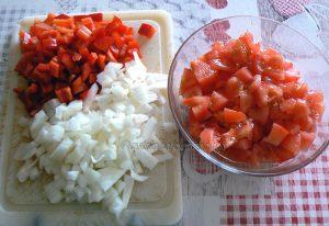 Charlotte aux aubergines, tomates et ricotta etape2