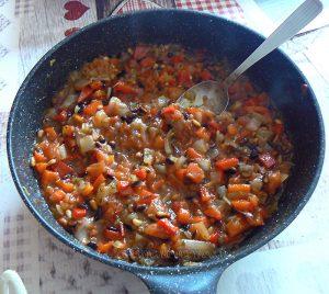 Charlotte aux aubergines, tomates et ricotta etape4
