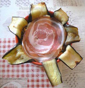 Charlotte aux aubergines, tomates et ricotta etape9