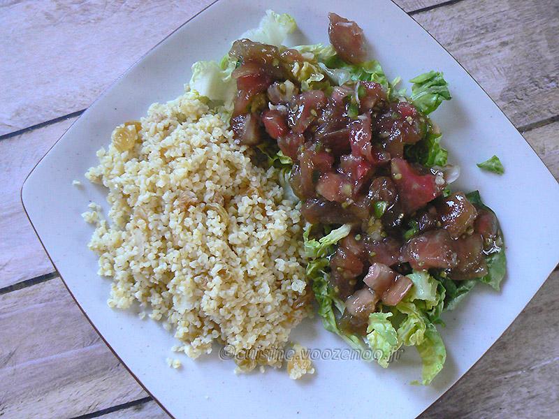 Salade de boulghour et salade de tomates Ethiopiennes fin3