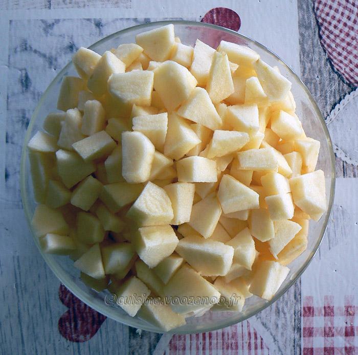 Eplekake – Gâteau aux pommes norvégien etape1
