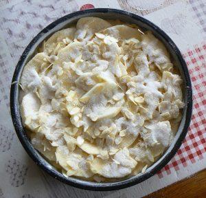 Eplekake - Gâteau aux pommes norvégien etape6